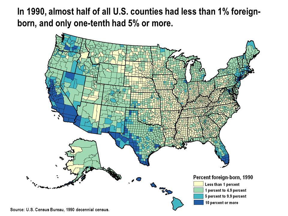 © 2006 POPULATION REFERENCE BUREAU Source: U.S. Census Bureau, 1990 decennial census.