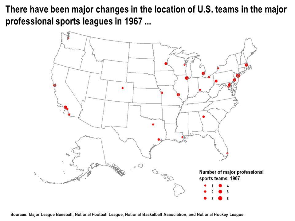 © 2006 POPULATION REFERENCE BUREAU Sources: Major League Baseball, National Football League, National Basketball Association, and National Hockey League.