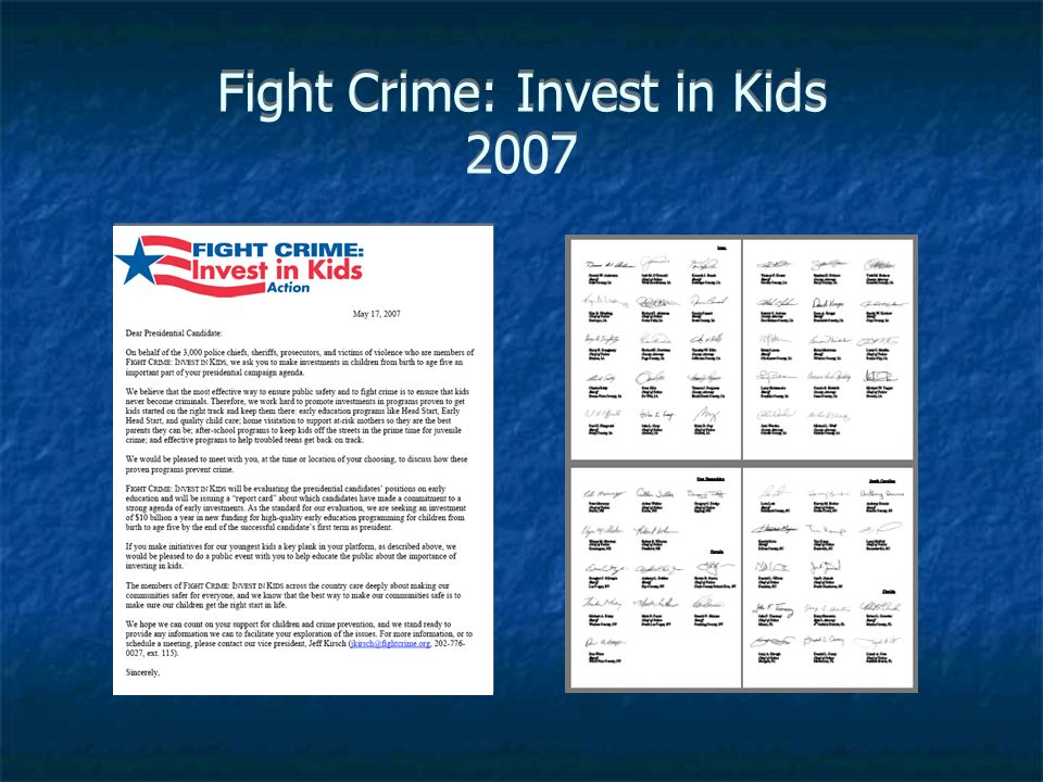 Fight Crime: Invest in Kids 2007