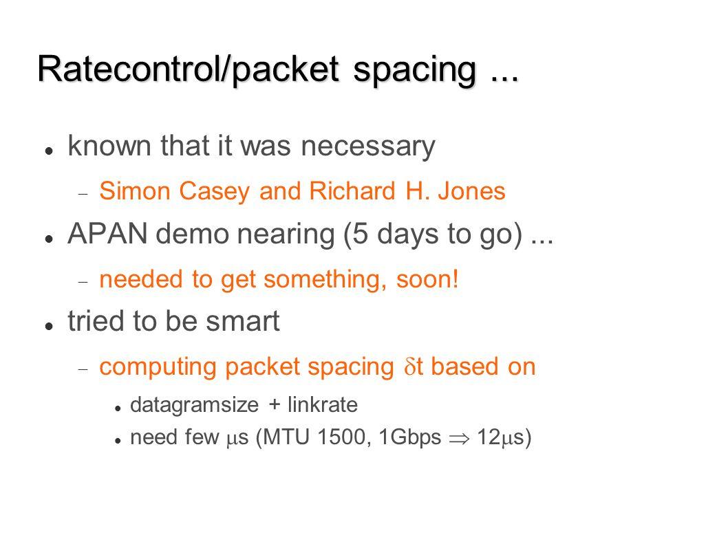 Jun 07 Dec 07 Jun 08 Sep 07 Mar 08 Ratecontrol/packet spacing...