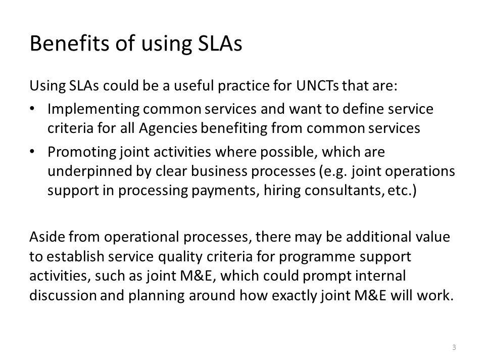 SLA Template 4 Function / ProcessServiceTimeframeService Level Agreement 1.
