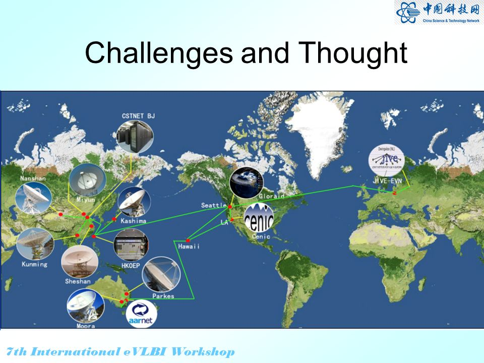 7th International eVLBI Workshop Challenges and Thought