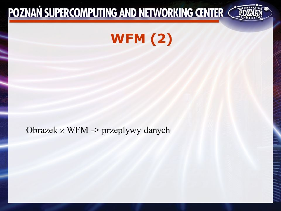 WFM (2) Obrazek z WFM -> przeplywy danych