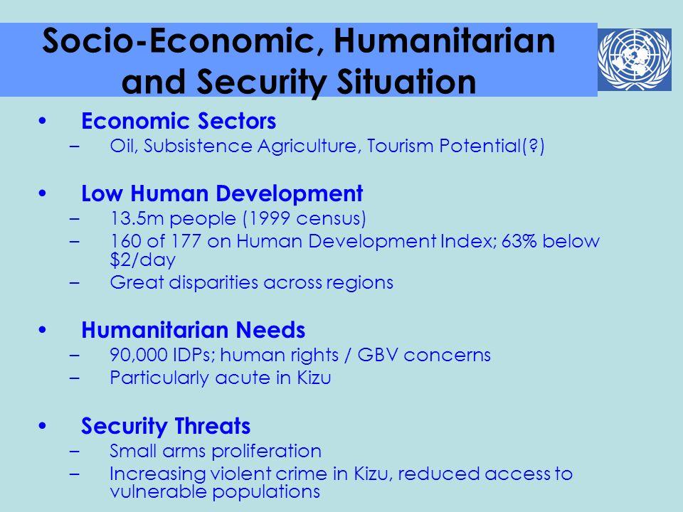 Economic Sectors –Oil, Subsistence Agriculture, Tourism Potential(?) Low Human Development –13.5m people (1999 census) –160 of 177 on Human Developmen