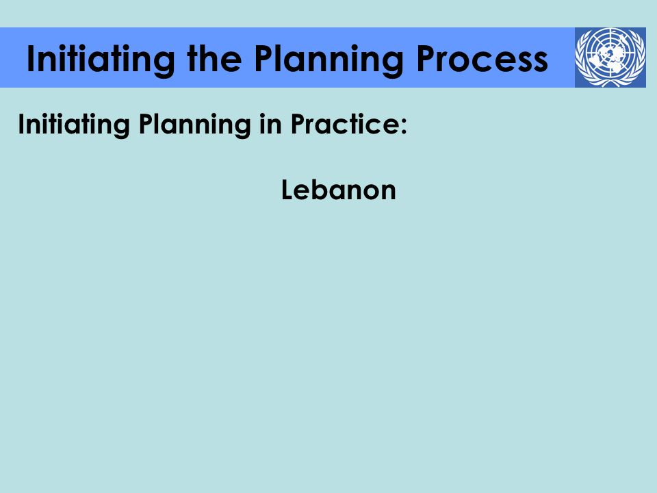 Initiating Planning in Practice: Lebanon Initiating the Planning Process