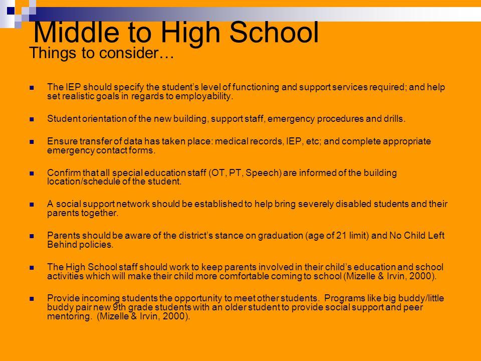 Beyond High School… Post Secondary Opportunities World of Work