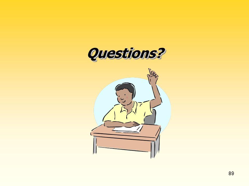 89 Questions Questions