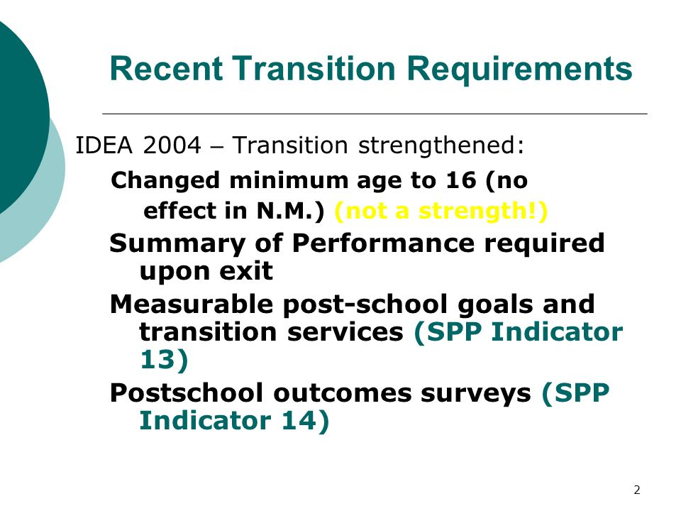 3 IDEA 2004 Purpose: A free appropriate public education...