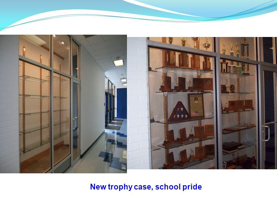 New trophy case, school pride