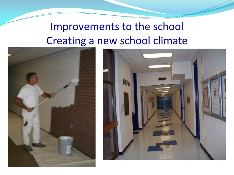Improvements to the school Creating a new school climate
