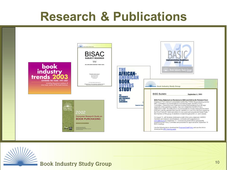 10 Research & Publications