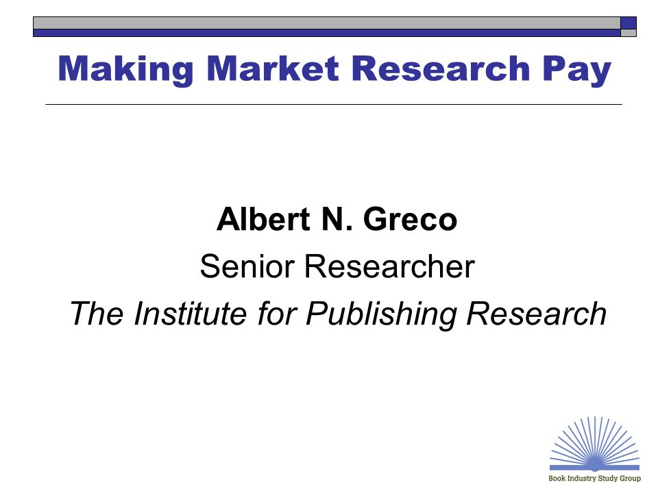 Making Market Research Pay Michael Norris Editor Book Publishing Report