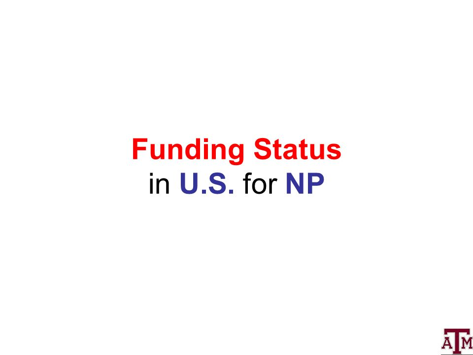 Funding Status in U.S. for NP