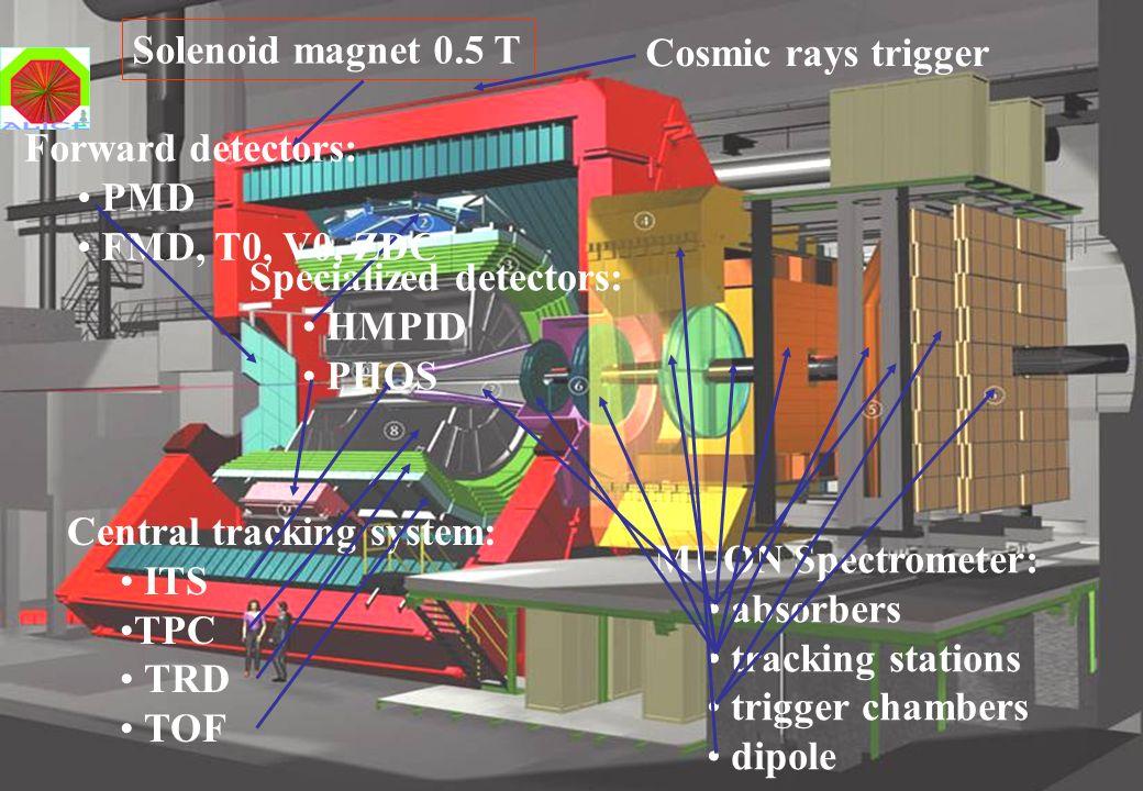 T. Peitzmann, NUPECC Groningen, Nov. 18, 2005 ALICE: the dedicated HI experiment Solenoid magnet 0.5 T Central tracking system: ITS TPC TRD TOF MUON S