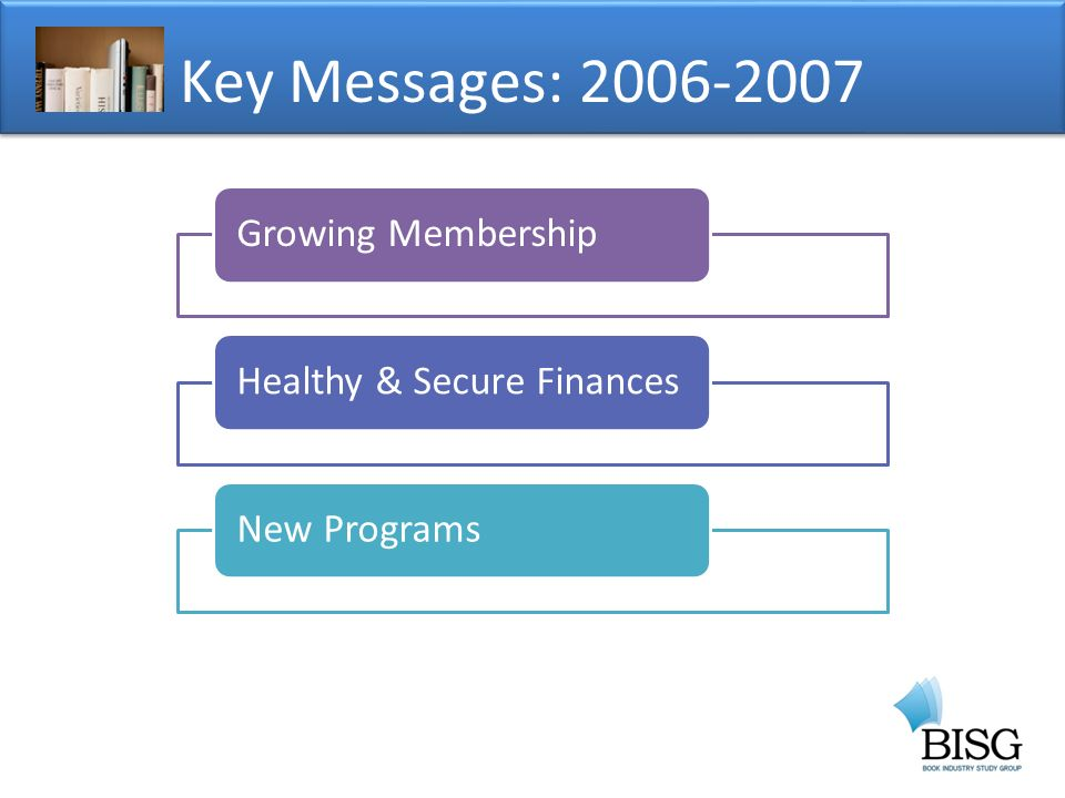 Key Messages: Growing MembershipHealthy & Secure FinancesNew Programs