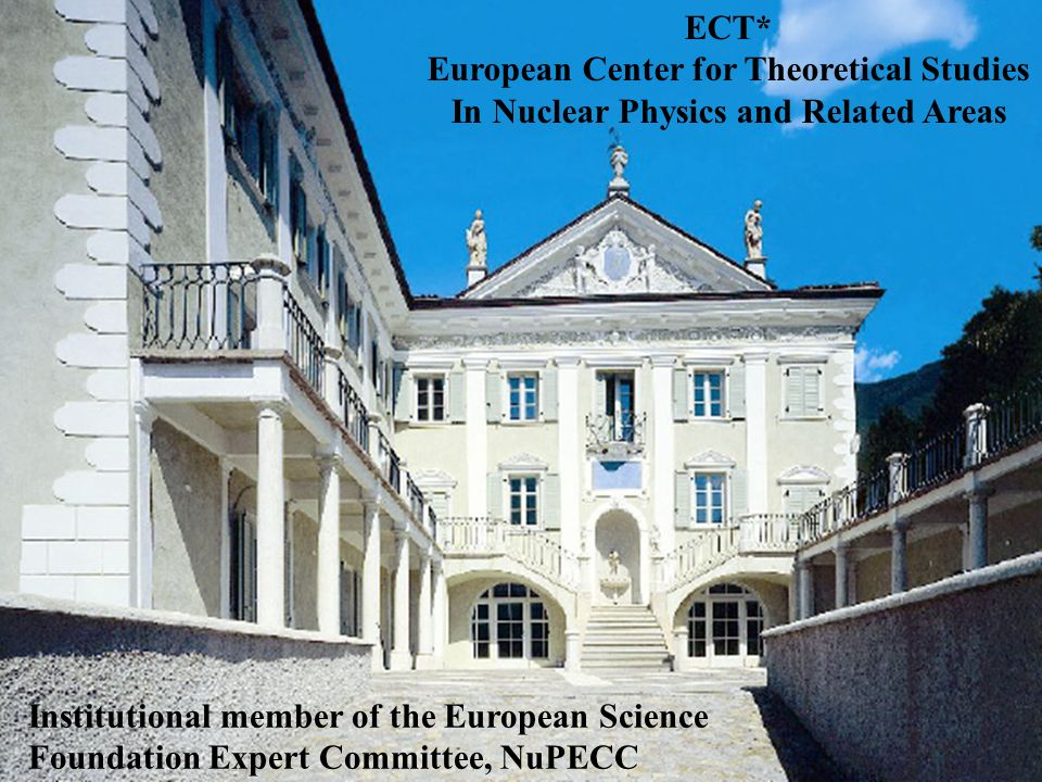 27 April 2007; PESC, Copenhagen, Denmark 2020 ECT* European Center for Theoretical Studies In Nuclear Physics and Related Areas Institutional member of the European Science Foundation Expert Committee, NuPECC