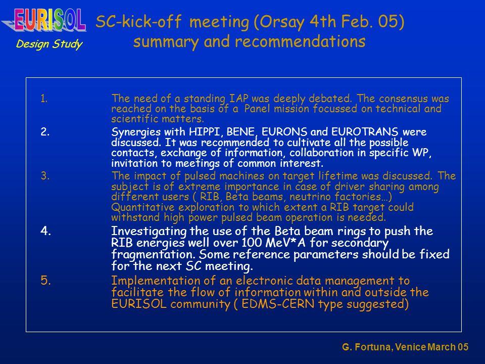 SC-kick-off meeting (Orsay 4th Feb.