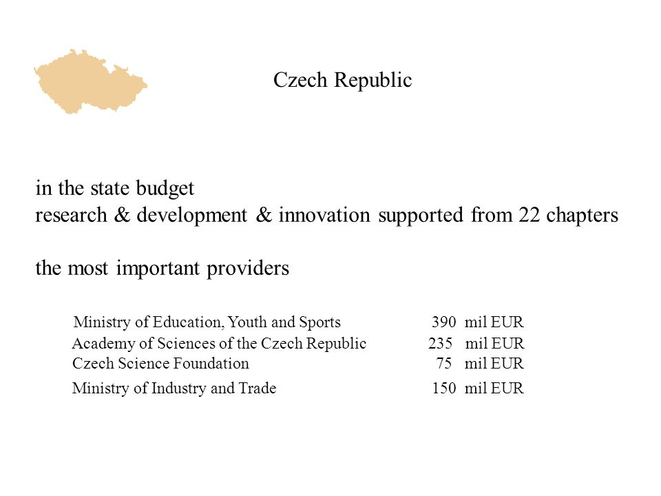 Nuclear Physics in the Czech Republic people physicists 75 PhD students 20 budget6,5 mil EUR 4 institutions
