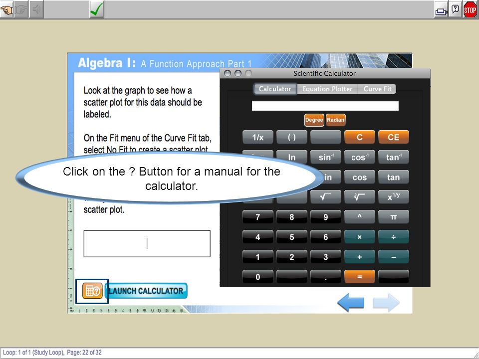 Click on the Button for a manual for the calculator.