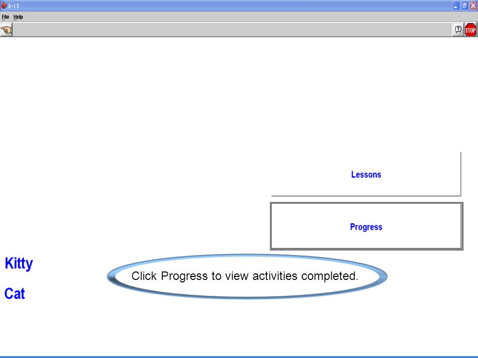 Click Progress to view activities completed.