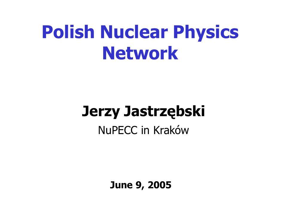 Polish Nuclear Physics Network Jerzy Jastrzębski NuPECC in Kraków June 9, 2005