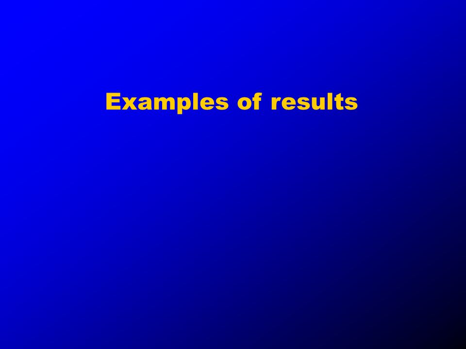 Examples of results