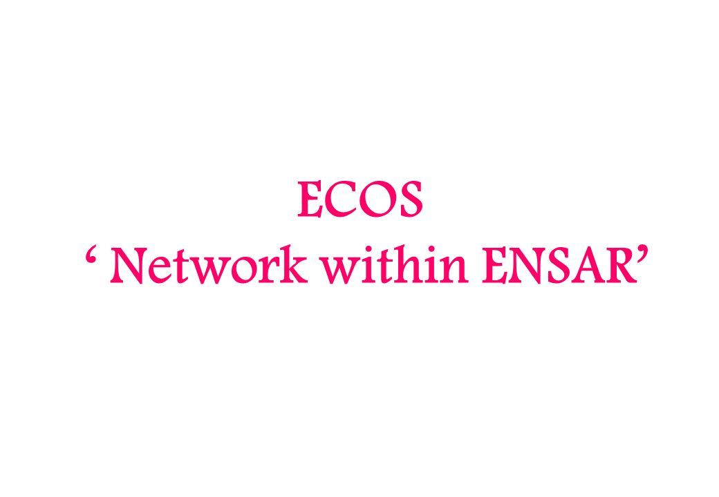 ECOS Network within ENSAR