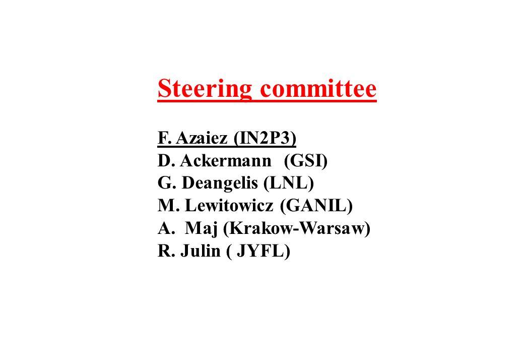 Steering committee F. Azaiez (IN2P3) D. Ackermann (GSI) G.