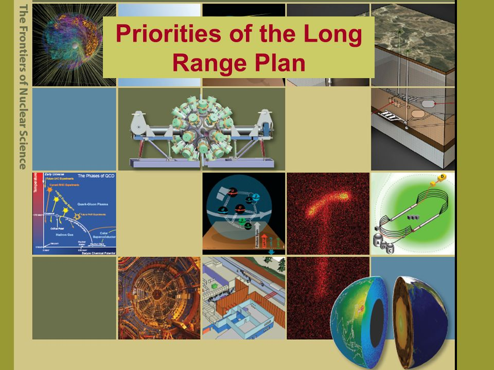 Priorities of the Long Range Plan