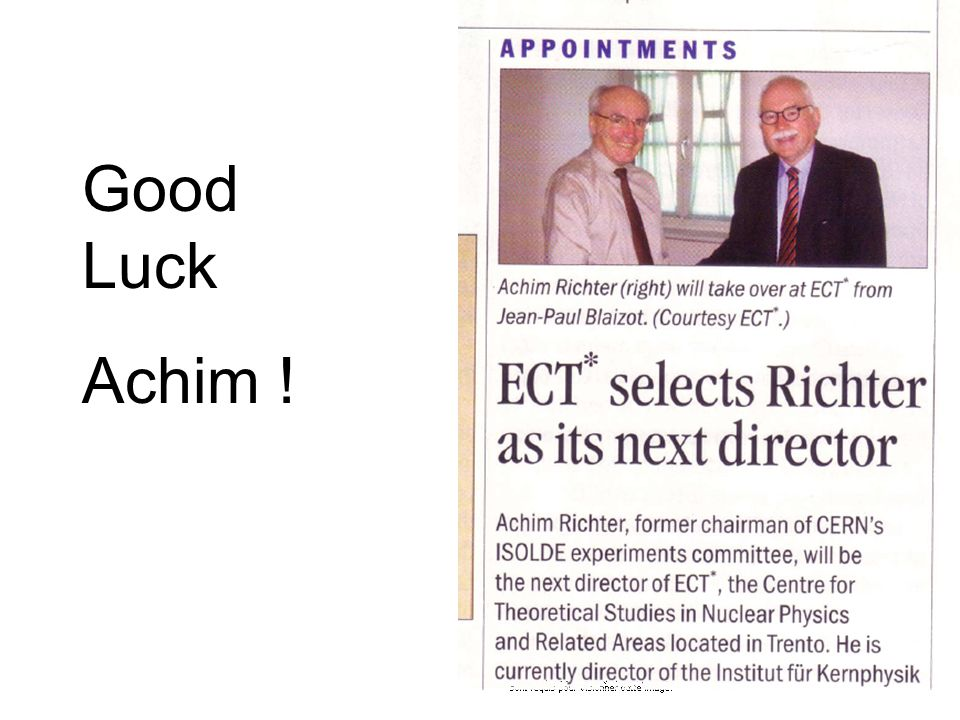 Good Luck Achim !
