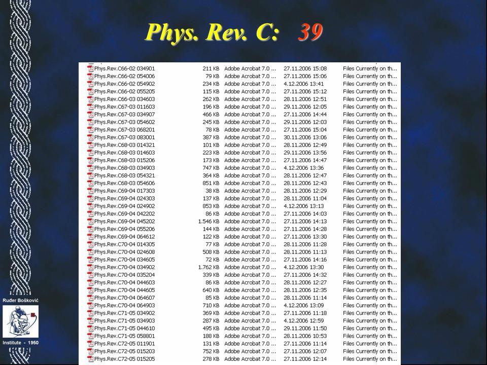 Phys. Rev. C: 39