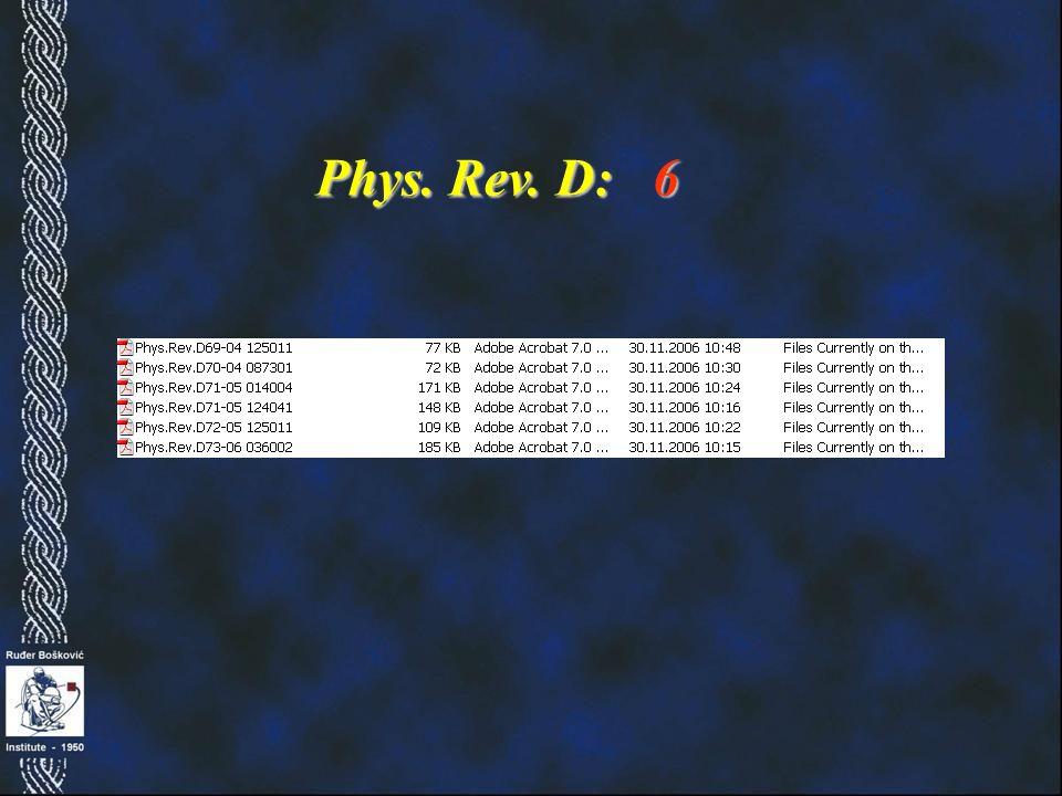 Phys. Rev. D: 6