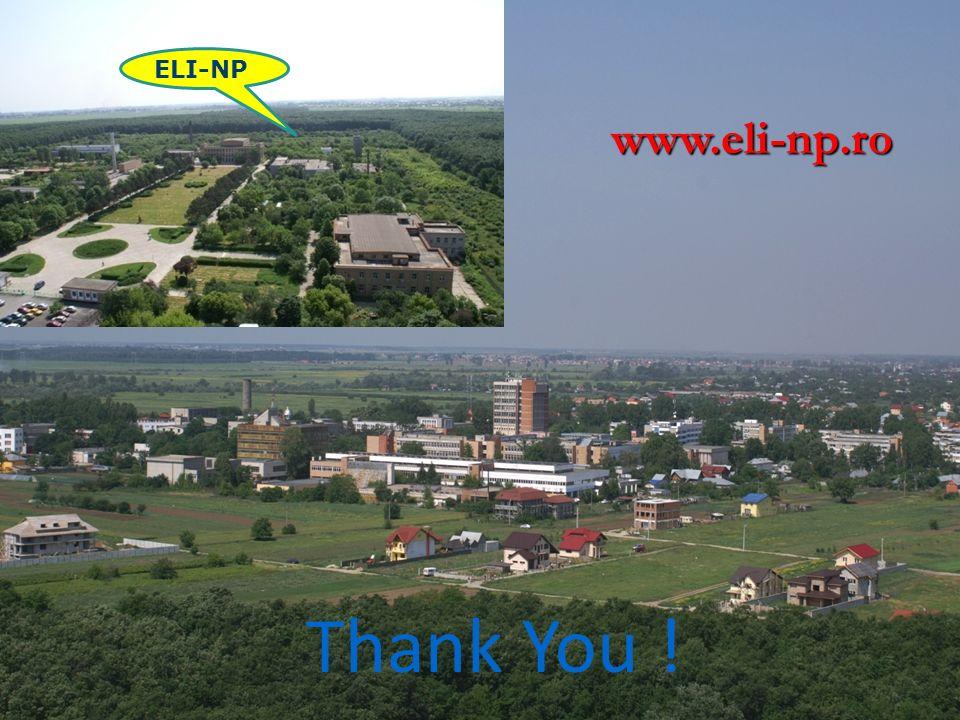 ELI-NP Thank You ! www.eli-np.ro