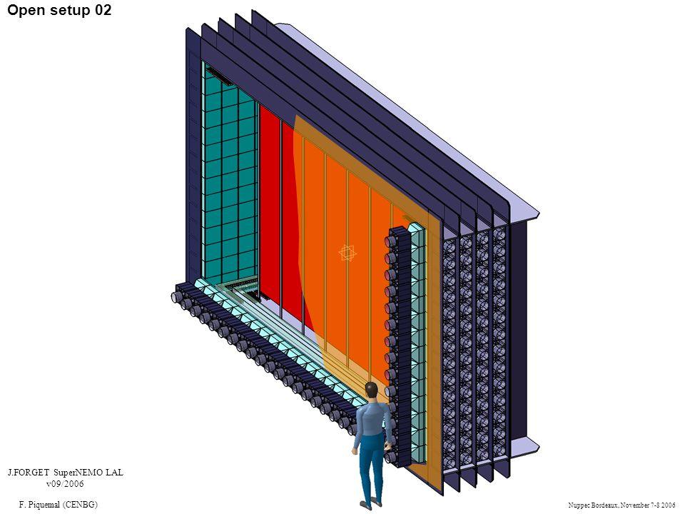 Open setup 02 J.FORGET SuperNEMO LAL v09/2006 F. Piquemal (CENBG) Nuppec Bordeaux, November 7-8 2006