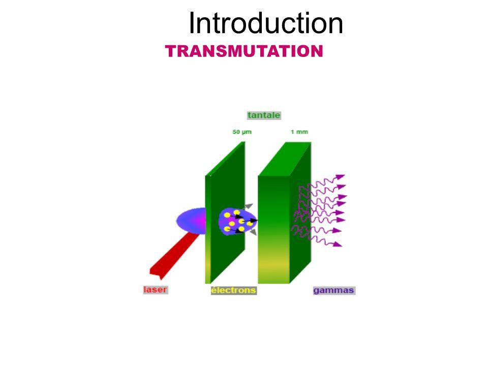 Introduction TRANSMUTATION