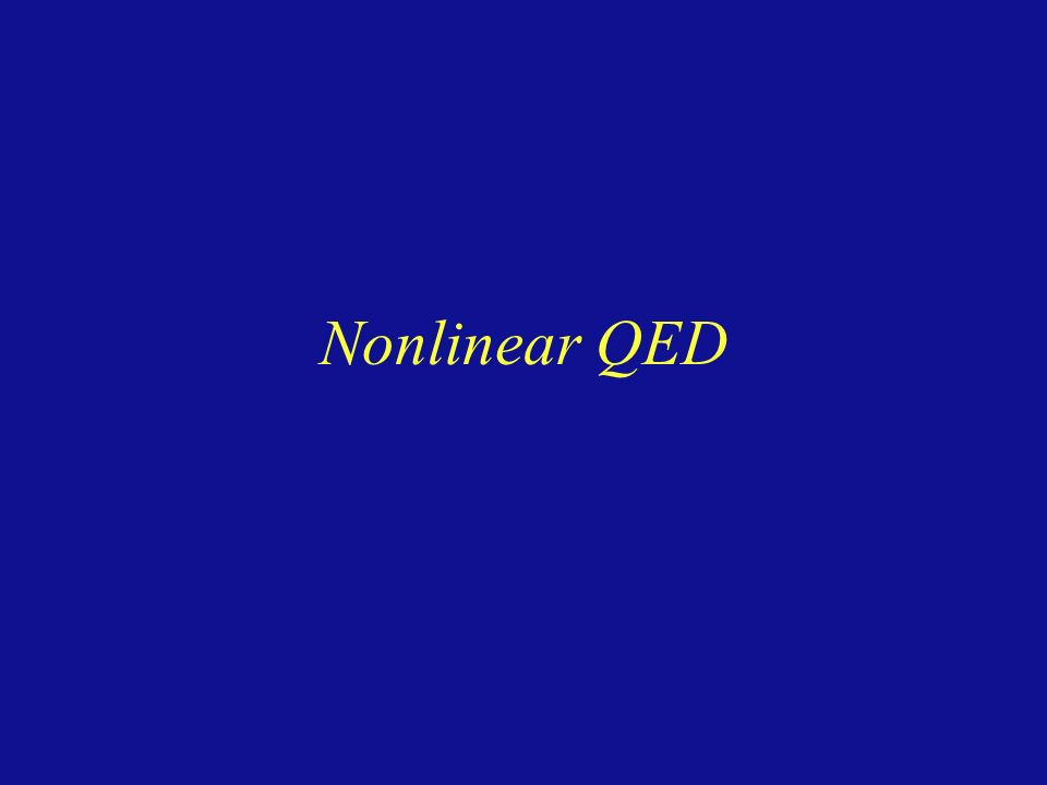 Nonlinear QED