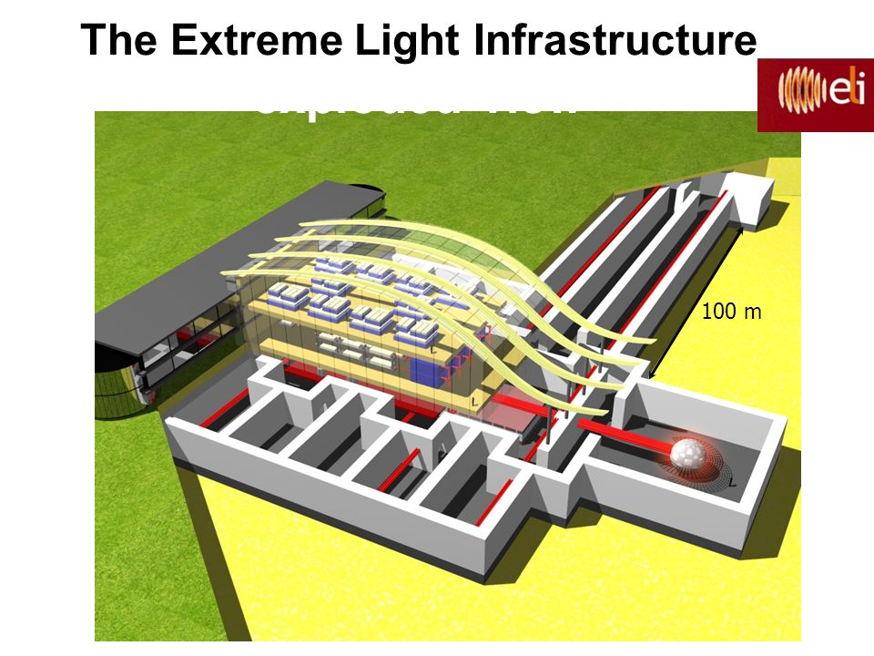 100 m The Extreme Light Infrastructure exploded view