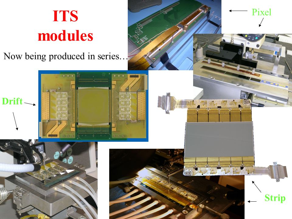 ITS modules Now being produced in series…. Hybrid bonding on K&S manual bonder Pixel Strip Drift