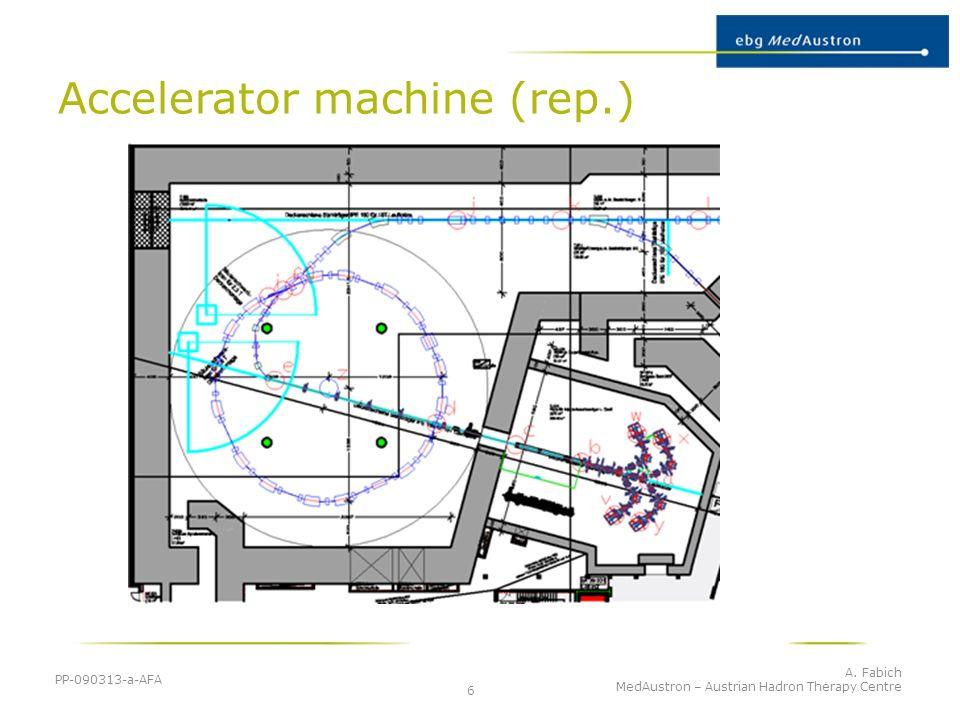 Accelerator machine (rep.) PP-090313-a-AFA A. Fabich MedAustron – Austrian Hadron Therapy Centre 6