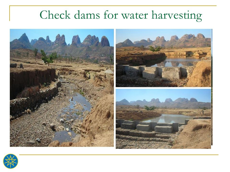 Check dams for water harvesting