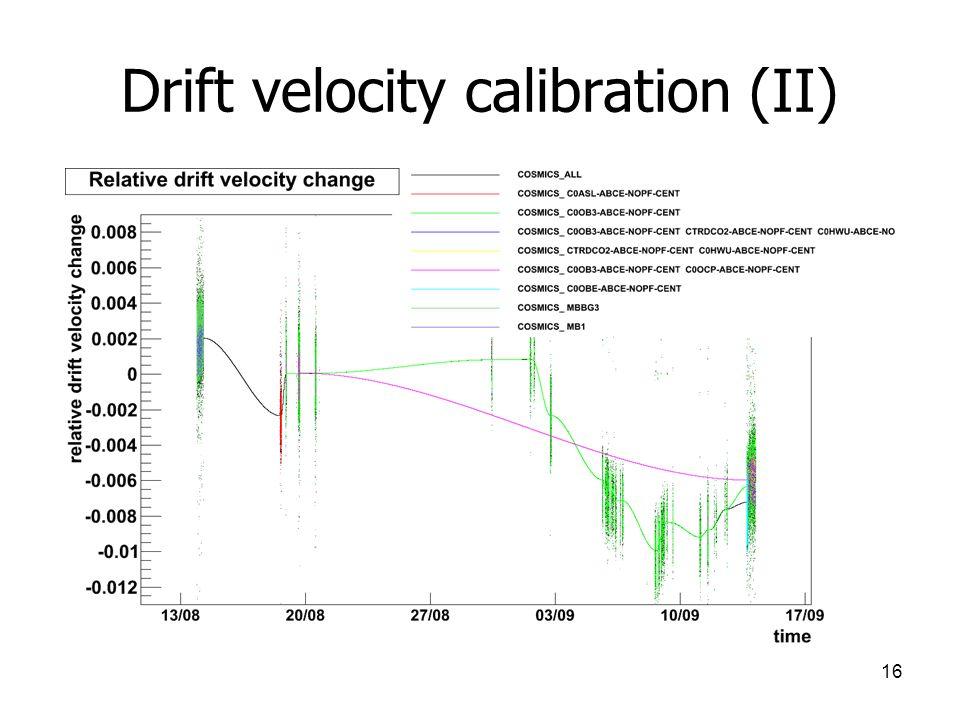 16 Drift velocity calibration (II)