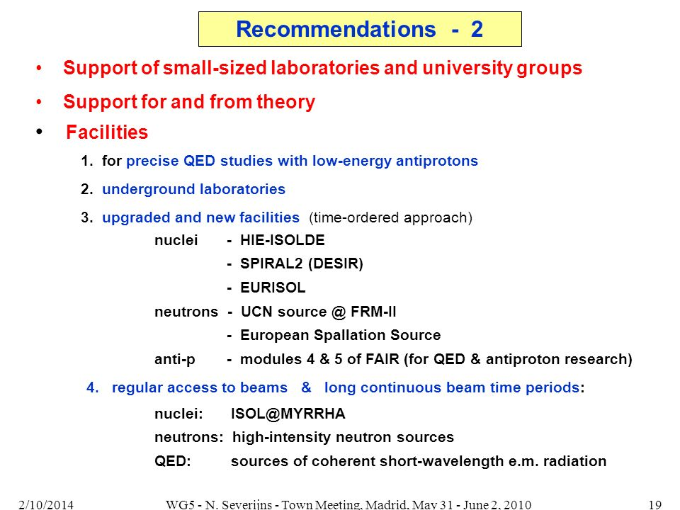 Support for and from theory Facilities 1. for precise QED studies with low-energy antiprotons 2.