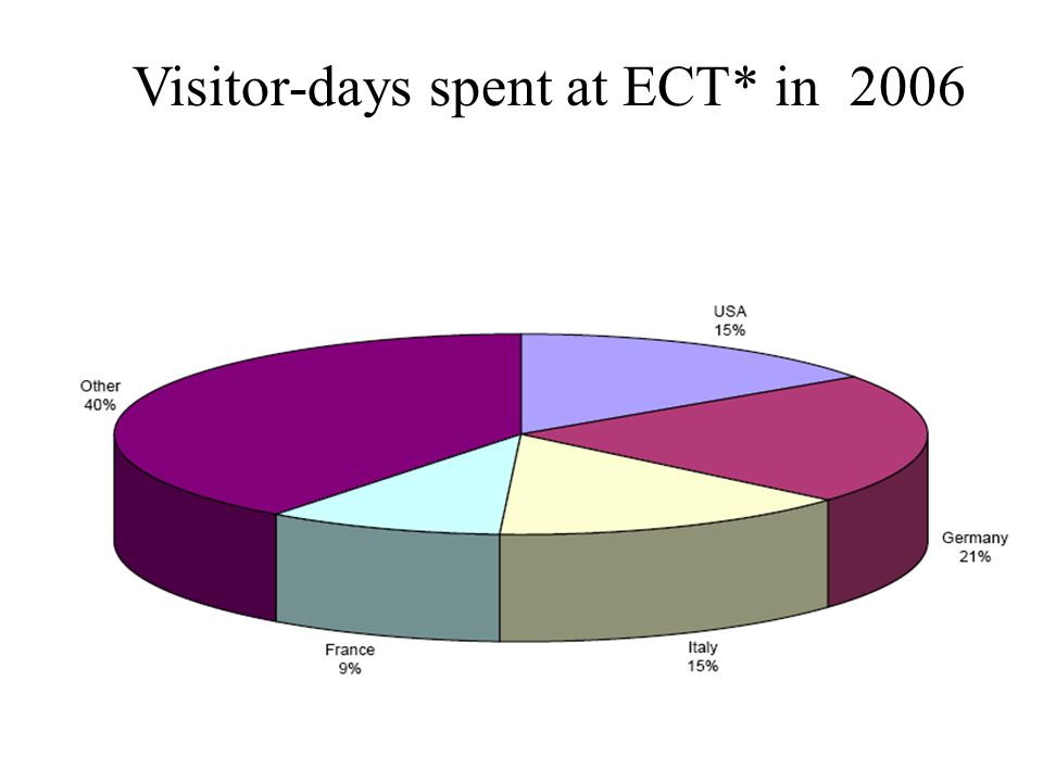 Visitor-days spent at ECT* in 2006