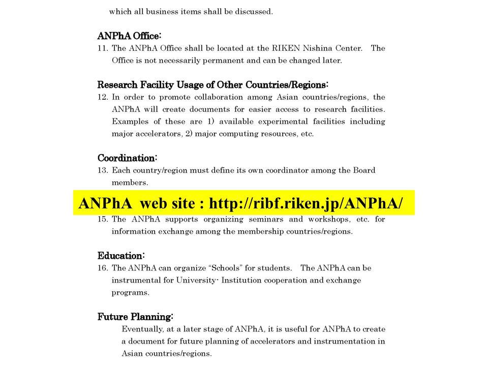 ANPhA web site : http://ribf.riken.jp/ANPhA/