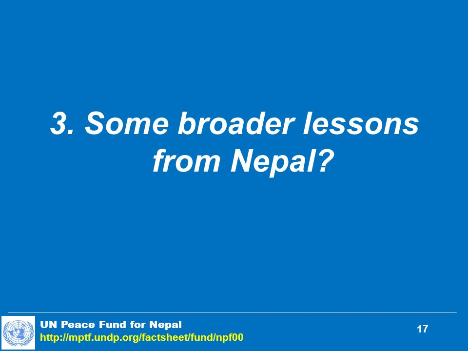 3. Some broader lessons from Nepal.