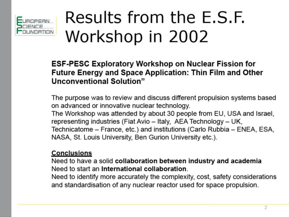 www.esf.org 13