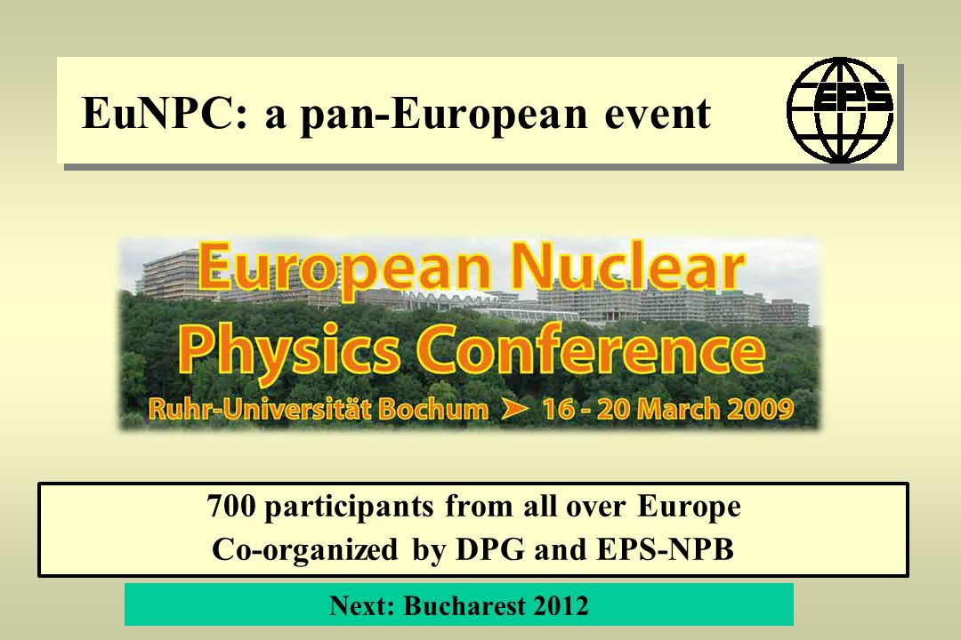 EuNPC: a pan-European event
