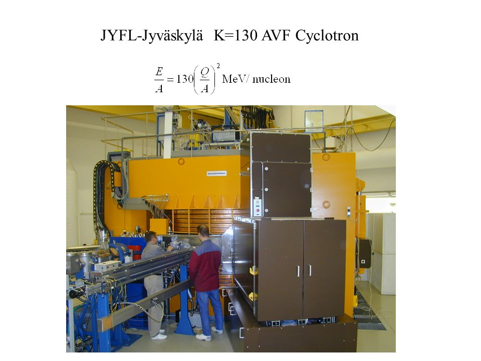 JYFL-Jyväskylä K=130 AVF Cyclotron