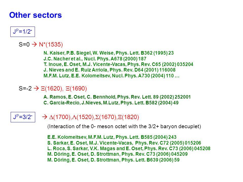 Other sectors J P =1/2 - S=0 N*(1535) N. Kaiser, P.B.