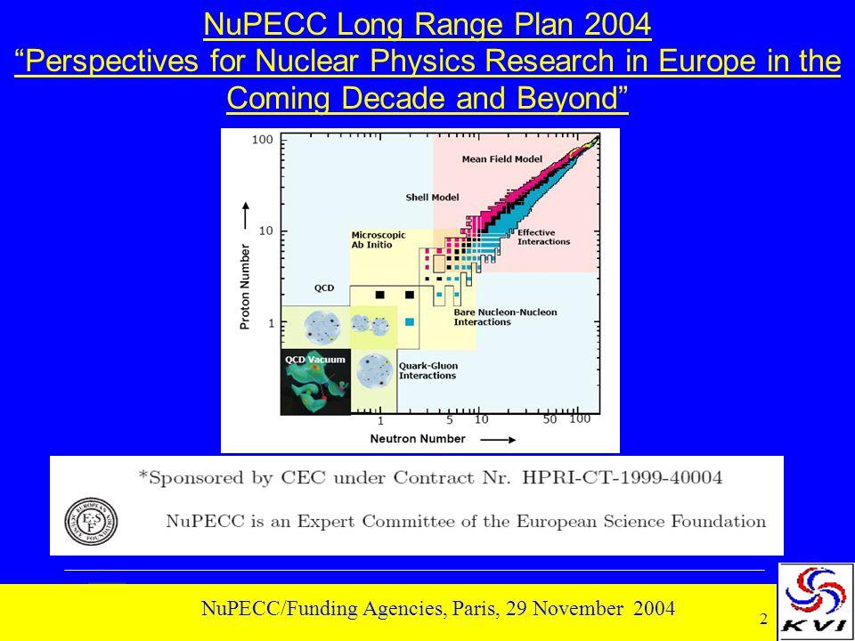 13 NuPECC/Funding Agencies, Paris, 29 November 2004 Nuclear Structure 1.